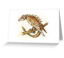 Clockwork Dragonette Greeting Card