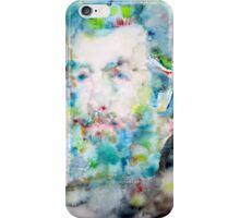HERMAN MELVILLE - watercolor portrait iPhone Case/Skin