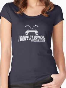 I Drive at 88mph... Just In Case Women's Fitted Scoop T-Shirt