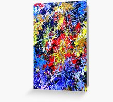 Fiery Outburst Greeting Card