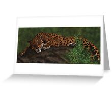 Lazy Leopard Greeting Card