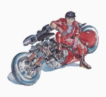 Akira by Katsuhiro Otomo Watercolor Tribute to Kaneda by MARCOMAJO