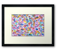 Hand Painted Water Color Artwork Framed Print