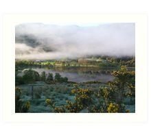 dawn mist  Art Print