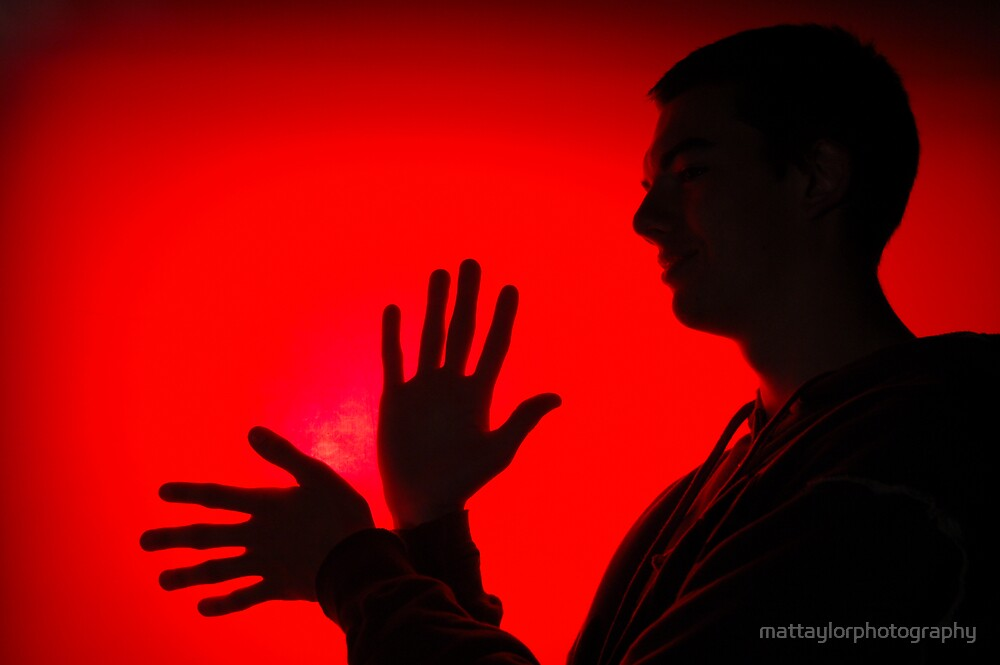 self portrait Silhouette by mattaylorphotography
