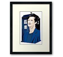 Blue Box Smith Cartoon Character Hoodie / T-shirt Framed Print