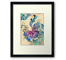 Spectrum Vortex on Capuccino Surface Framed Print