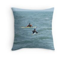 Canoeists Throw Pillow