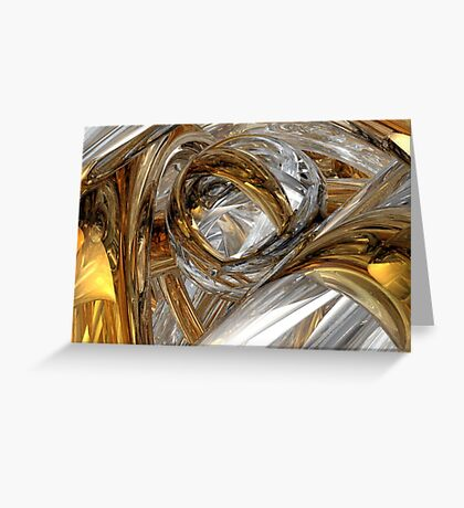 Dreams Of Silver And Gold Greeting Card
