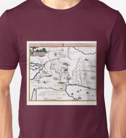 Vintage Map Situation of the Terrestrial Paradise Unisex T-Shirt