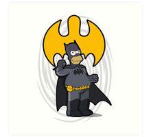 bat-homer: the Simpsons superheroes Art Print