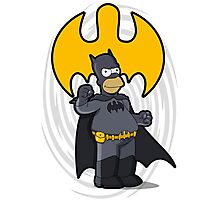 bat-homer: the Simpsons superheroes Photographic Print