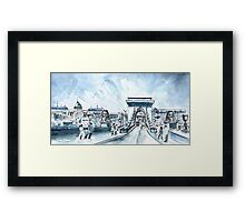 Chain Bridge In Budapest Framed Print