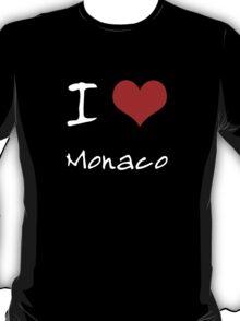 I love Heart Monaco T-Shirt