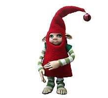 Happy Holiday Helper - Xmas Elf  Photographic Print