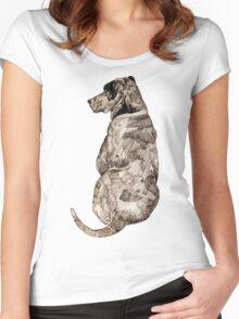 Mans Best Friend Women's Fitted Scoop T-Shirt