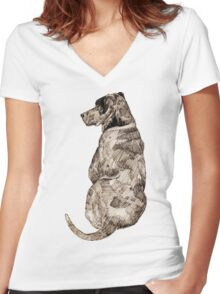 Mans Best Friend Women's Fitted V-Neck T-Shirt
