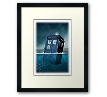 Blue Box in Water Hoodie / T-shirt Framed Print