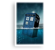 Blue Box in Water Hoodie / T-shirt Canvas Print