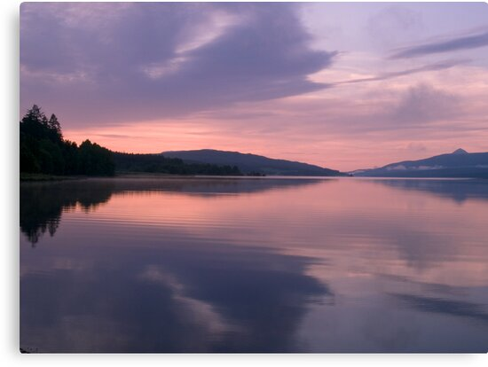 Symmetrical Sunrise, Loch Rannoch by Tim Haynes