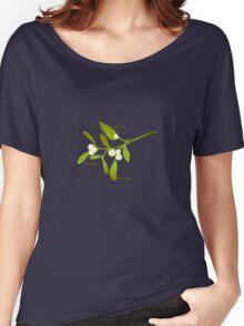Kiss me mistletoe Women's Relaxed Fit T-Shirt