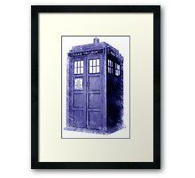 Blue Box Hoodie / T-shirt Framed Print
