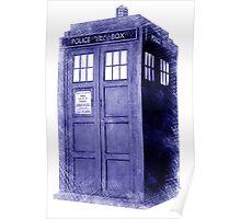 Blue Box Hoodie / T-shirt Poster