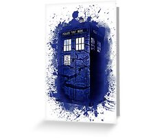 Scratch Blue Box Hoodie / T-shirt Greeting Card