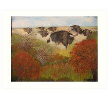 Where buffalo roamed free Art Print