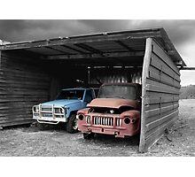 Tired Trucks Photographic Print