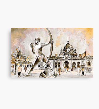 The Archer From Budapest Canvas Print