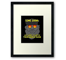Some GRRMs Just Want to Watch the World Burn Framed Print