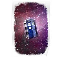 Blue Box nebula Tee Tardis Hoodie / T-shirt Poster