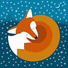 Sleeping Fox in Winter by Compassion Collective