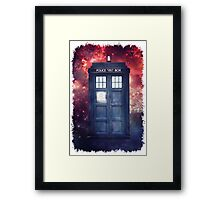 Police Blue Box Tee The Doctor T-Shirt Framed Print