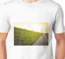 sheeps on the North Sea dike Unisex T-Shirt