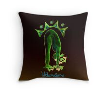 Uttanasana Throw Pillow