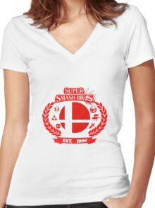 Smash Bros Women's Fitted V-Neck T-Shirt