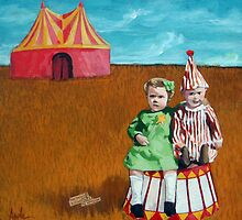 Big Dreams Circus childrens art adventure  by LindaAppleArt