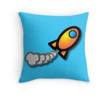 Orange Rocket! Throw Pillow