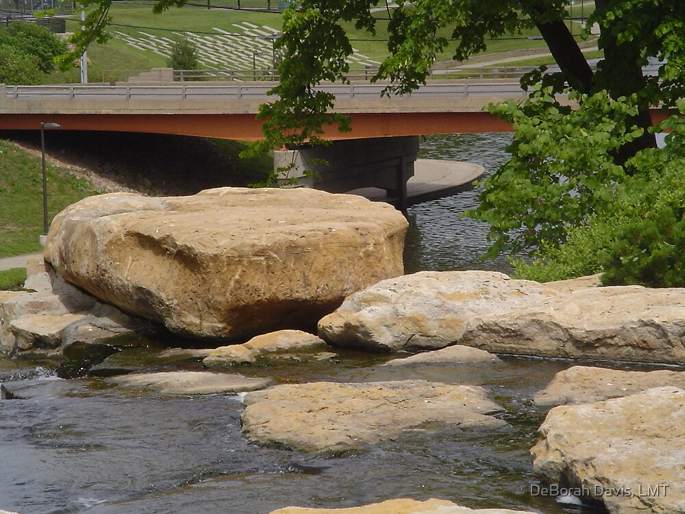 A River, A Rock  by DeBorah Davis, LMT