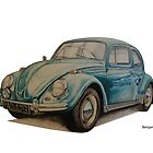 VW Beetle by BSIllustration