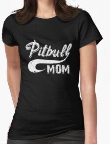 Pitbull Mom Womens Fitted T-Shirt