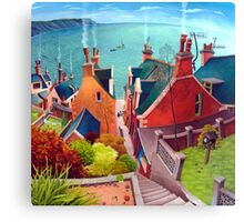 Sea houses. Gardenstown. Canvas Print