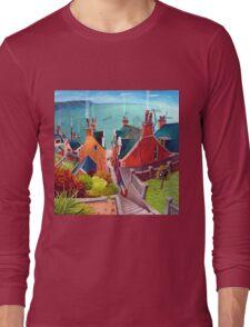 Sea houses. Gardenstown. Long Sleeve T-Shirt