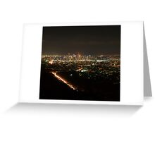 Brisbane City Night Skyline. Greeting Card