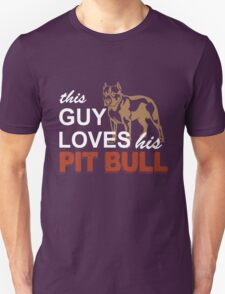 This Guy Loves His Pitbull Unisex T-Shirt