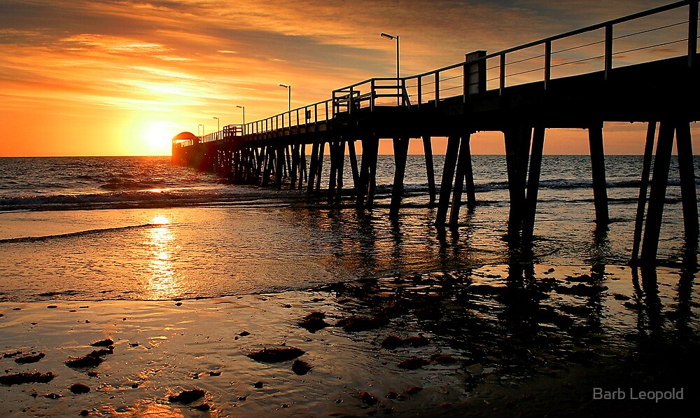 Sunset: Henley Beach by Barb Leopold