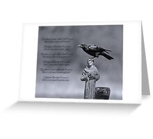 St. Francis and Brother Crow Greeting Card