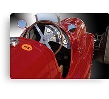 1939 Maserati Race Car 'Driver's Compartment Detail' Canvas Print